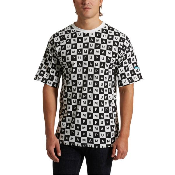 Checkboard AOP Tee, Puma White--AOP, large