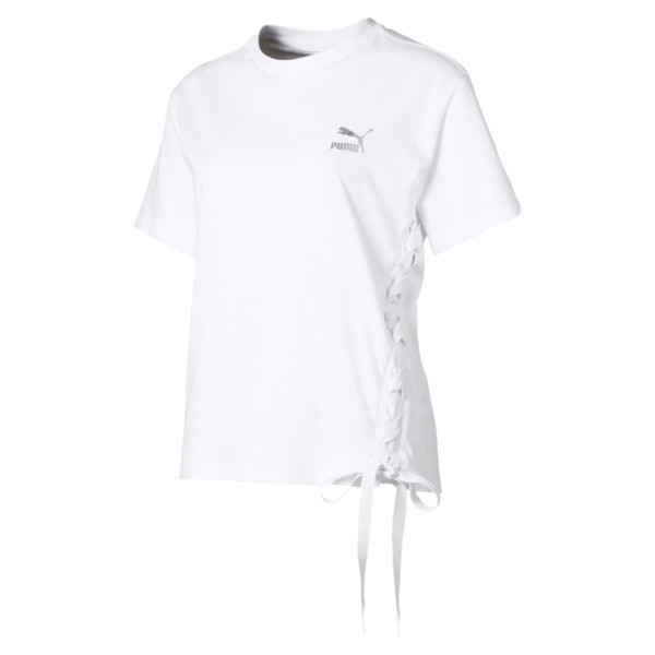 Crush Short Sleeve Women's Tee, Puma White, large