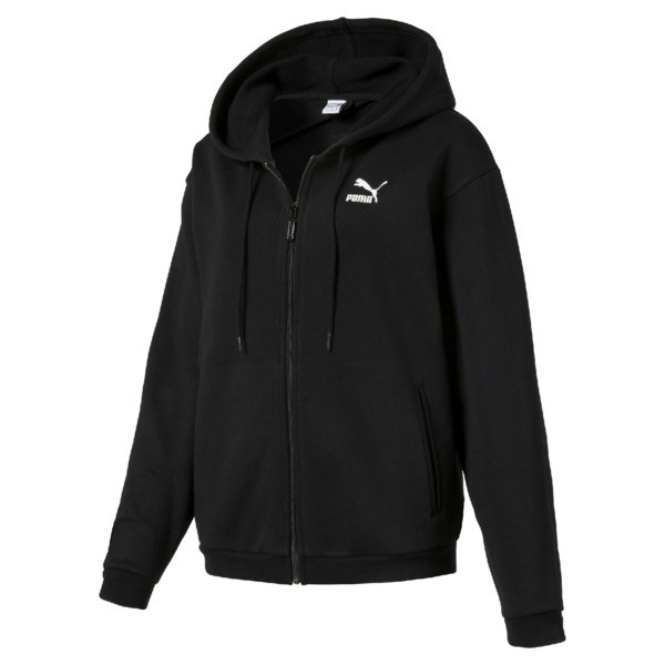 Crush Full Zip Women's Hoodie, Puma Black, large