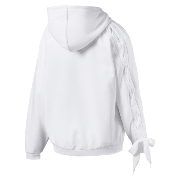 Crush Women's Full Zip Hoodie, Puma White, large
