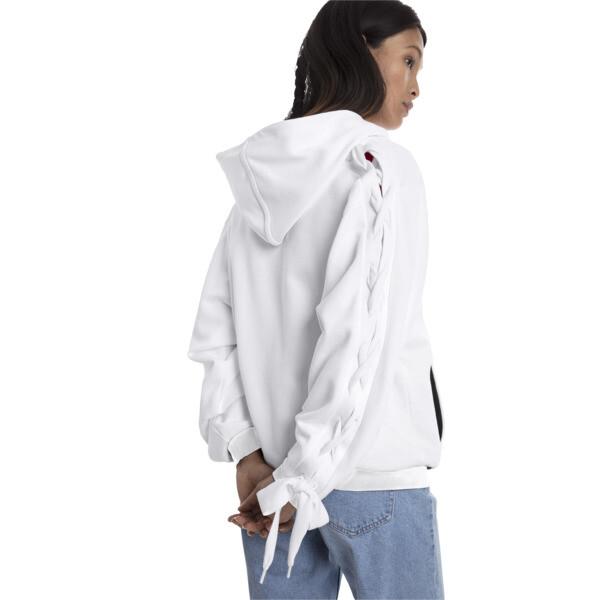 Damska bluza z kapturem Crush zapinana na suwak, Puma White, obszerny