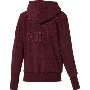 Thumbnail 3 of Downtown Pullover Sherpa Hoodie, Fig, medium