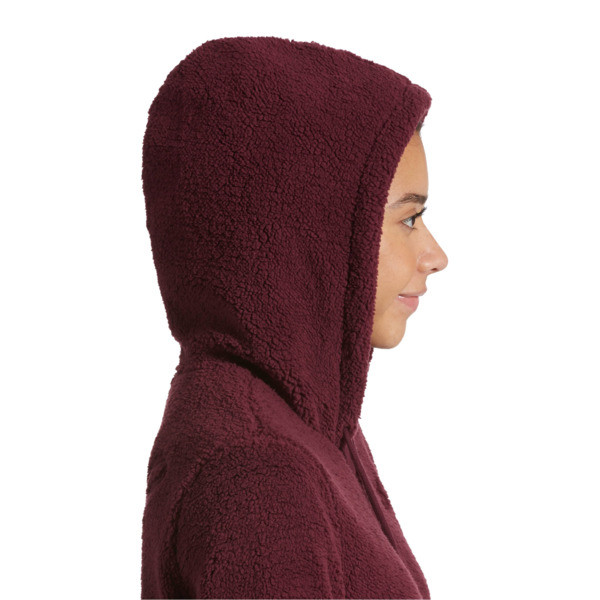 Downtown Pullover Sherpa Hoodie, Fig, large
