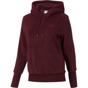 Thumbnail 1 of Downtown Pullover Sherpa Hoodie, Fig, medium