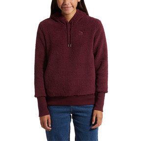 Thumbnail 2 of Downtown Pullover Sherpa Hoodie, Fig, medium