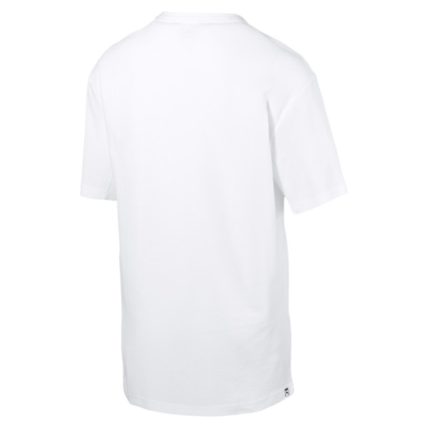 Downtown T-shirt voor heren, Puma White, large