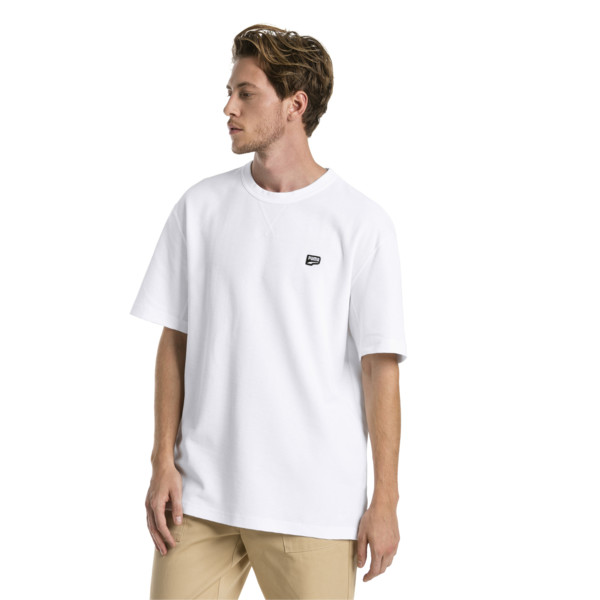 Downtown Men's Tee, Puma White, large