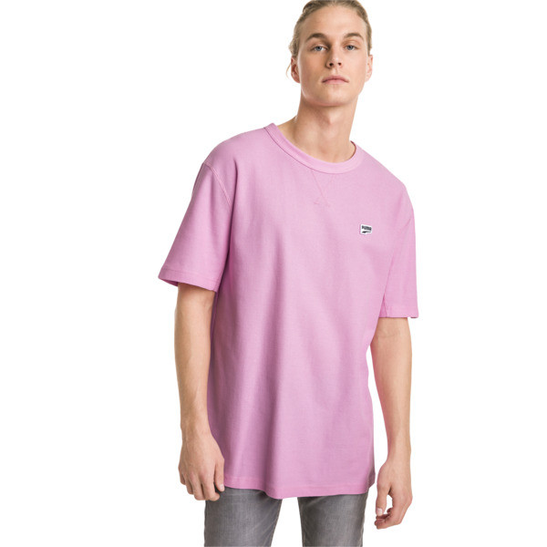 Downtown Men's Tee, Pale Pink, large