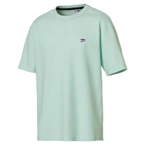 Downtown T-shirt voor heren, Fair Aqua, large