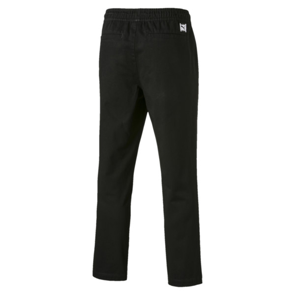 Downtown Men's Twill Pants, Cotton Black, large