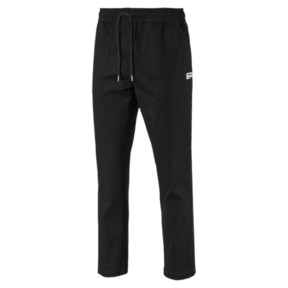 Thumbnail 4 of Downtown Twill Knitted Men's Sweatpants, Cotton Black, medium