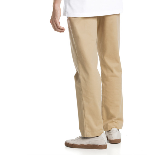 Downtown Twill Knitted Men's Sweatpants, Taos Taupe, large
