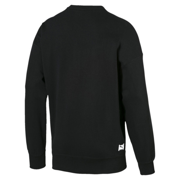 Downtown Men's Crew Sweatshirt, Cotton Black, large