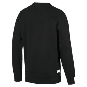 Thumbnail 2 of Downtown Long Sleeve Men's Crewneck Sweatshirt, Cotton Black, medium