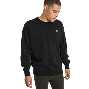 Thumbnail 2 of Downtown Men's Crew Sweatshirt, Cotton Black, medium