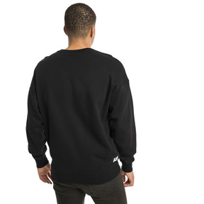 Thumbnail 3 of Downtown Men's Crew Sweatshirt, Cotton Black, medium