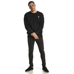 Thumbnail 5 of Downtown Men's Crew Sweatshirt, Cotton Black, medium