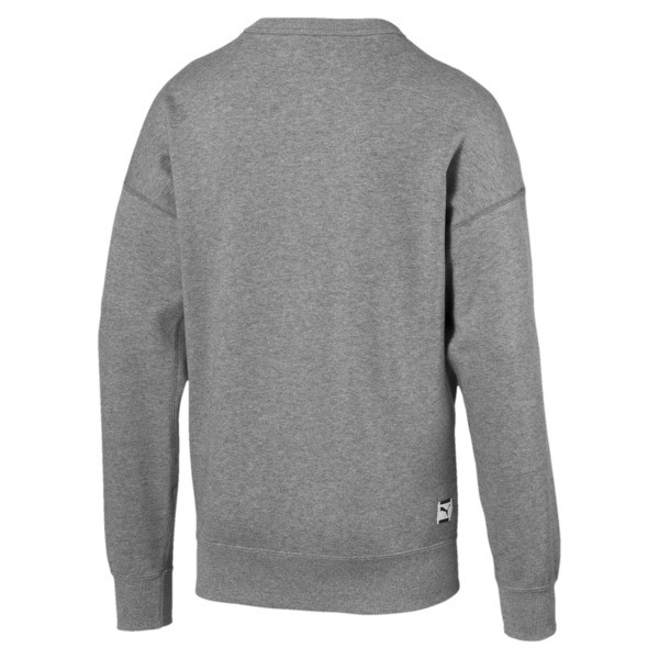 Sudadera con cuello redondo de hombre Downtown, Medium Gray Heather, grande