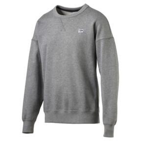 Thumbnail 1 of Downtown Men's Crew Sweatshirt, Medium Gray Heather, medium