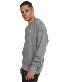 Thumbnail 2 of Downtown Men's Crew Sweatshirt, Medium Gray Heather, medium