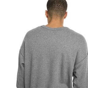 Thumbnail 3 of Downtown Men's Crew Sweatshirt, Medium Gray Heather, medium