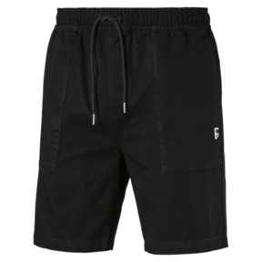 Thumbnail 4 of Downtown Herren Sweatshorts, Cotton Black, medium
