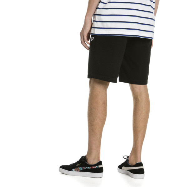 Downtown Herren Sweatshorts, Cotton Black, large
