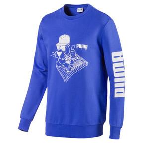 Thumbnail 1 of SUPER PUMA Sound Men's Crewneck Sweatshirt, Dazzling Blue, medium