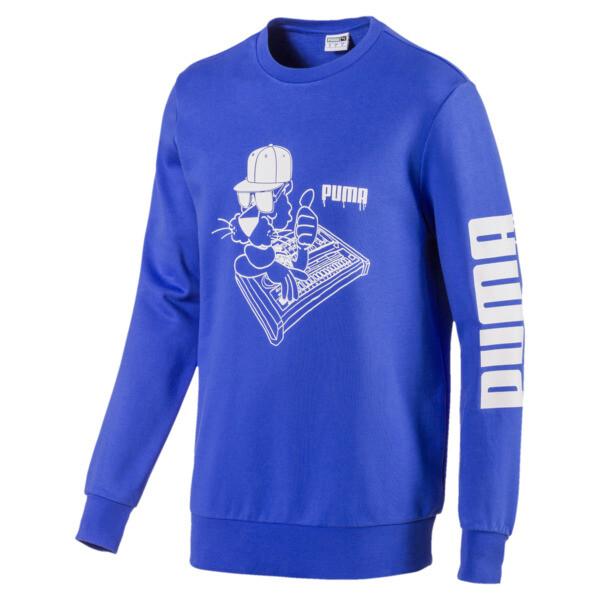 SUPER PUMA Sound Men's Crewneck Sweatshirt, Dazzling Blue, large