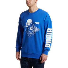 Thumbnail 2 of SUPER PUMA Sound Men's Crewneck Sweatshirt, Dazzling Blue, medium