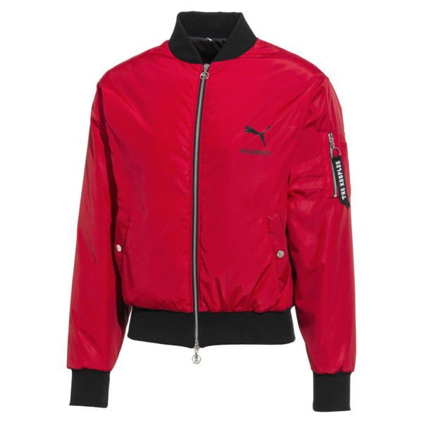 PUMA x THE KOOPLES Padded Men's Bomber Jacket, High Risk Red, large
