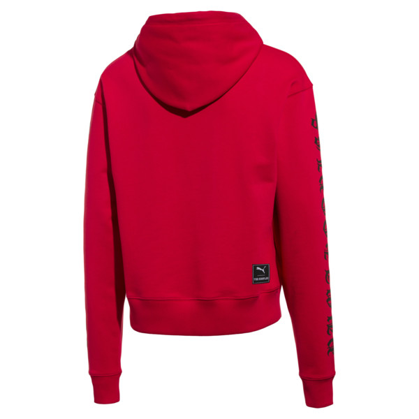 Męska bluza z kapturem PUMA x THE KOOPLES, High Risk Red, obszerny