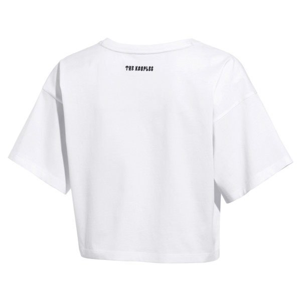 PUMA x THE KOOPLES Cropped Women's Tee, Puma White, large