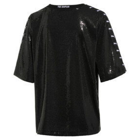 Thumbnail 2 of PUMA x THE KOOPLES Sequin Women's Tee, Puma Black, medium