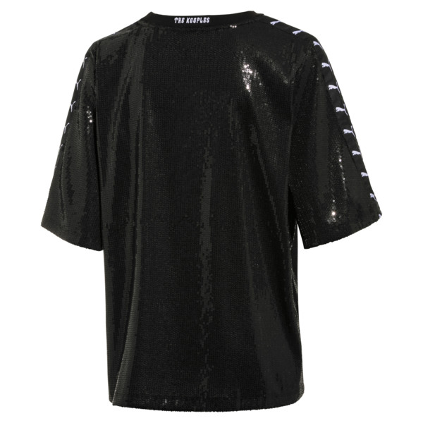 PUMA x THE KOOPLES Women's Sequin Tee, Puma Black, large