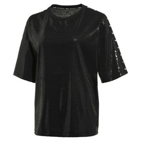 Thumbnail 1 of T-Shirt à paillettes PUMA x THE KOOPLES pour femme, Puma Black, medium
