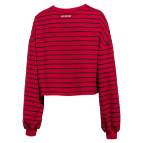 Thumbnail 2 of PUMA x THE KOOPLES Cropped Women's Sweater, High Risk Red, medium