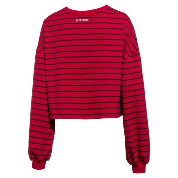 Damski krótki sweter PUMA x THE KOOPLES, High Risk Red, obszerny