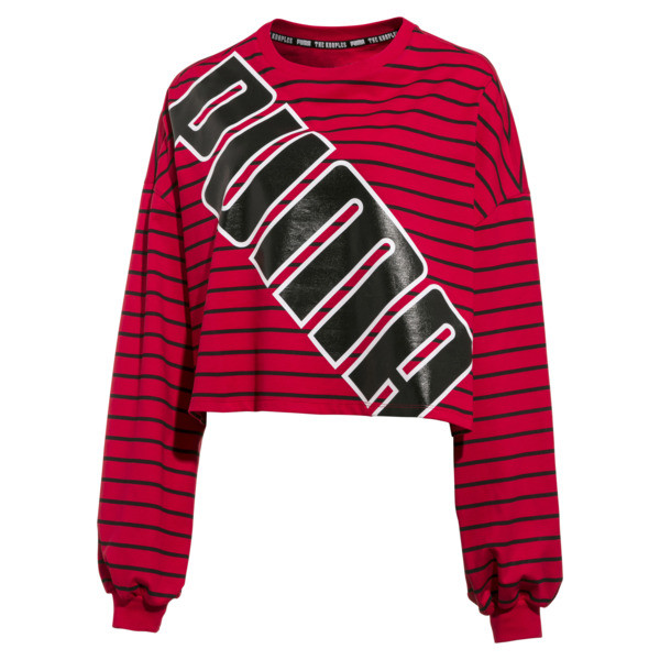 PUMA x THE KOOPLES ウィメンズ クルー, High Risk Red, large-JPN