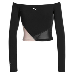 Thumbnail 2 of Top sans épaule Rive Gauche pour femme, Puma Black, medium