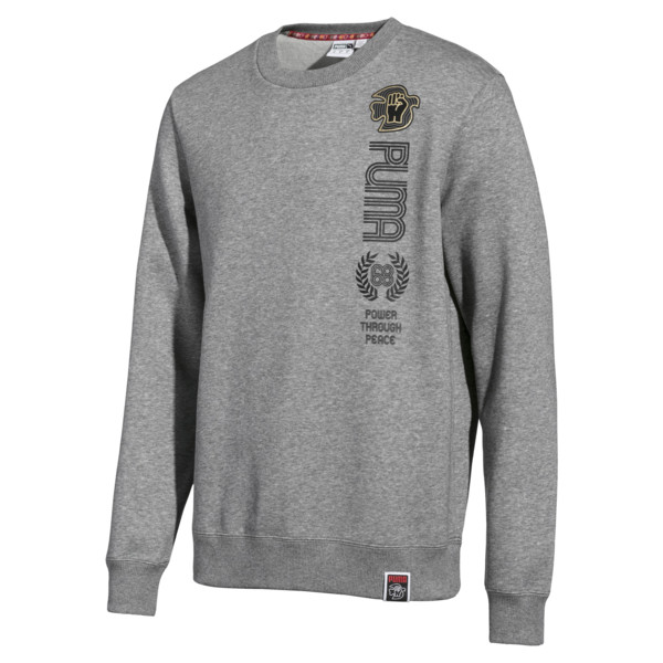 PUMA x Power Through Peace Crew, Medium Gray Heather, large