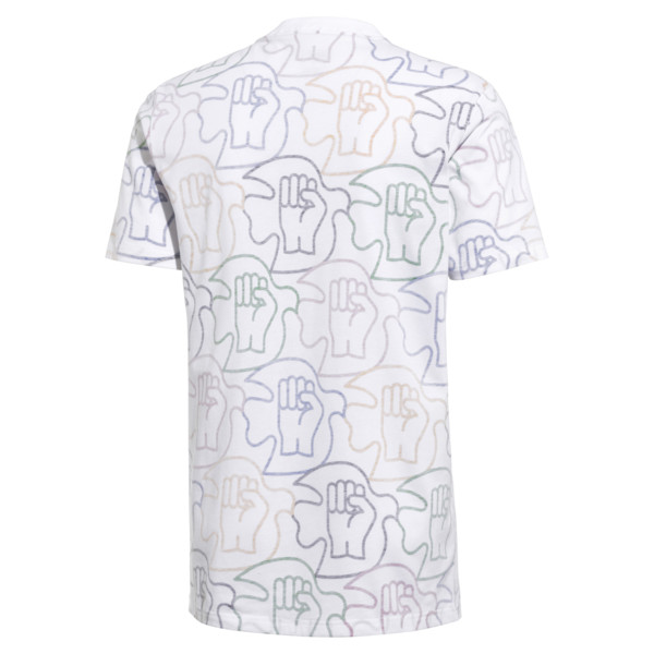 PUMA x Power Through Peace All Over Print T-Shirt, 01, large