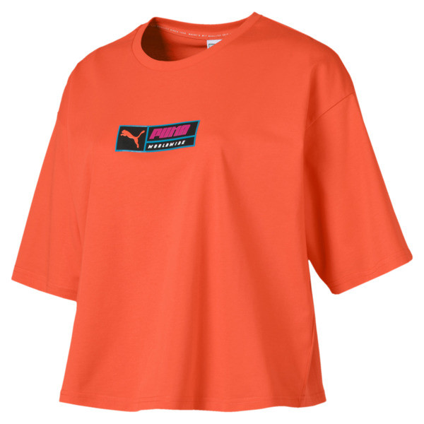 T-Shirt TZ pour Femme, Orange, Taille L | PUMA