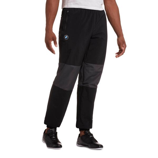 BMW M Motorsport Men's Woven Pants, Puma Black, large