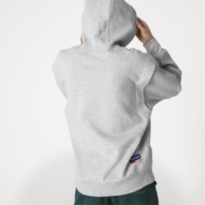 Thumbnail 3 of PUMA x ADER ERROR Hoodie, Light Gray Heather, medium