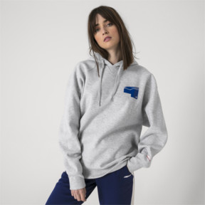 Thumbnail 6 of PUMA x ADER ERROR Hoodie, Light Gray Heather, medium