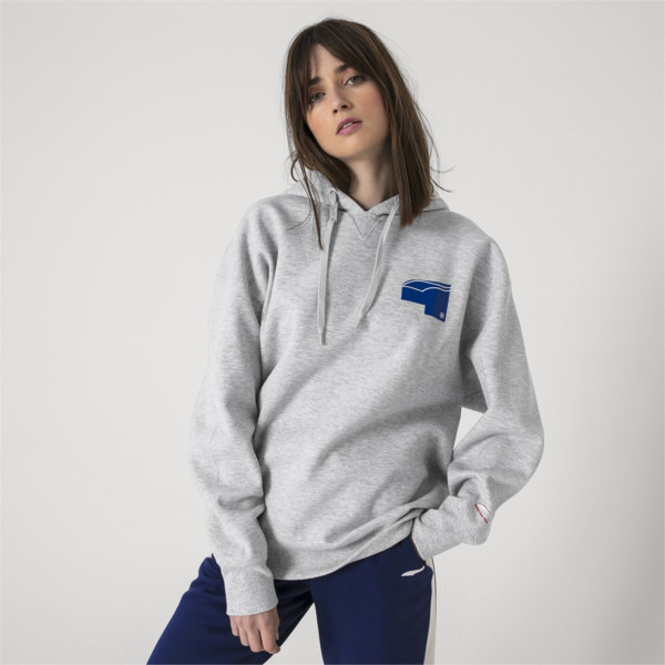 Sweatshirt à capuche PUMA x ADER ERROR, Light Gray Heather, large