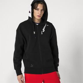 Thumbnail 2 of PUMA x ADER ERROR Full Zip Hoodie, Cotton Black, medium