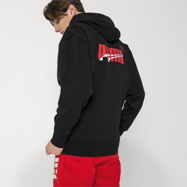 PUMA x ADER ERROR Full Zip Hoodie, Cotton Black, large