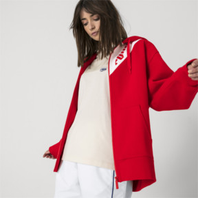 Thumbnail 6 of PUMA x ADER ERROR Full Zip Hoodie, Puma Red, medium